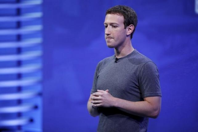 Facebook CEO Mark Zuckerberg speaks on stage during the Facebook F8 conference in San Francisco, California April 12, 2016. REUTERS/Stephen Lam/Files