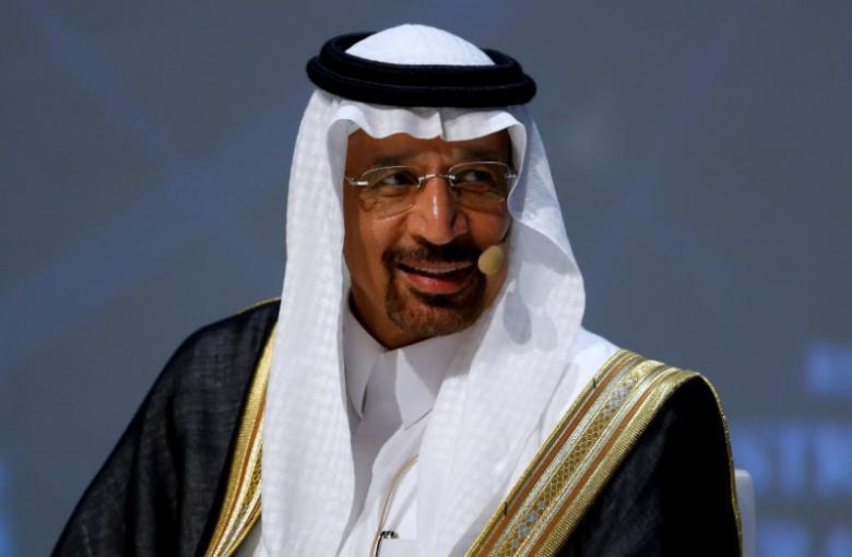 Saudi Arabia's Energy Minister Khalid al-Falih talks during the 23rd World Energy Congress in Istanbul