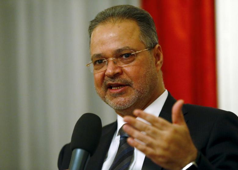 Yemeni Foreign Minister Abdel-Malek al-Mekhlafi speaks to media after the Yemen peace talks in Switzerland in Bern